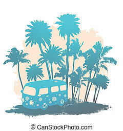 autobus, viaggiare, retro