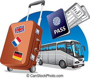 autobus, viaggiare