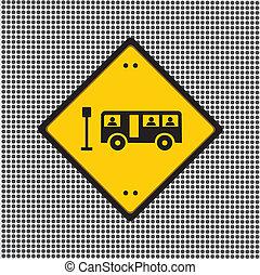 autobus, znak