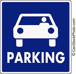 autocar, parkering signera