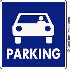 autocar, señal de estacionamiento