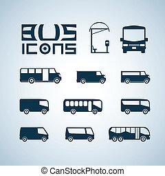 autocarro, ícones