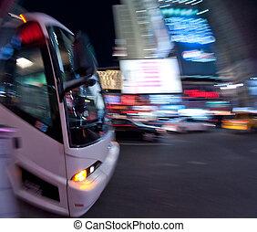 autocarro, acelerando