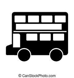 autocarro, clássicas, londres, ícone