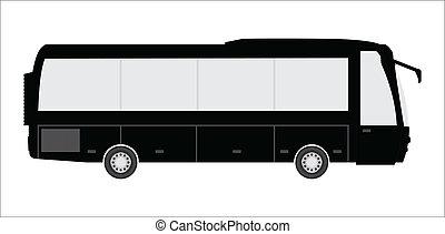 autocarro, desenho, turista, especiais