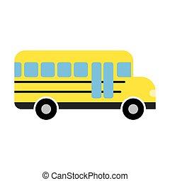 autocarro, escola, ícone