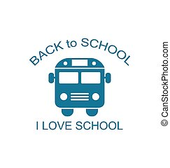 autocarro, escola, isolado