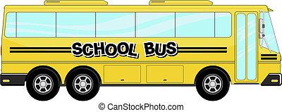 autocarro, escola, vetorial