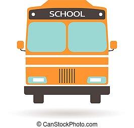 autocarro escolar, logo., vetorial, projeto gráfico