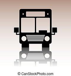 autocarro, icon., vetorial, ilustração