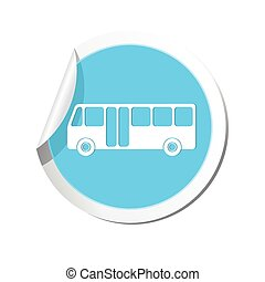 autocarro, ilustração, vetorial, icon.
