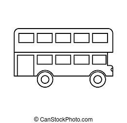 autocarro, londres, isolado, ícone