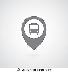 autocarro, símbolo, ponteiro