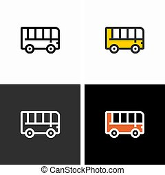 autocarro, transporte, cidade, passageiro, público