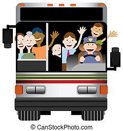 autocarro, transporte