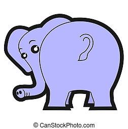 autocollant, éléphant