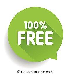 autocollant, cent, cent, gratuite