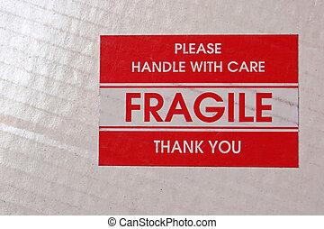 autocollant, fragile