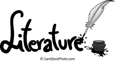 autocollant, littérature
