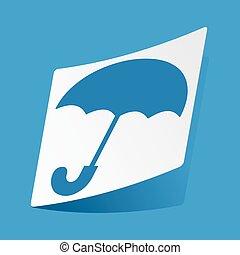 autocollant, parapluie