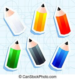 autocollants, coloré