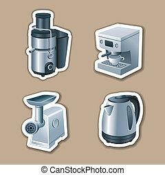 autocollants, kitchenware