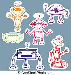 autocollants, robot
