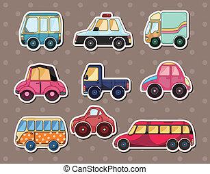 autocollants, voiture
