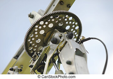 Close-up view of autogyro rotor head stock photography