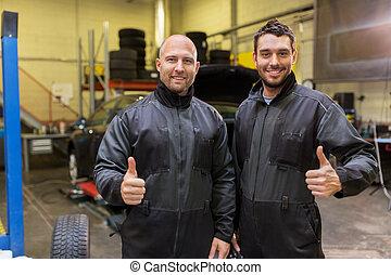 automático, mecanica, ou, pneu, changers, em, car, loja