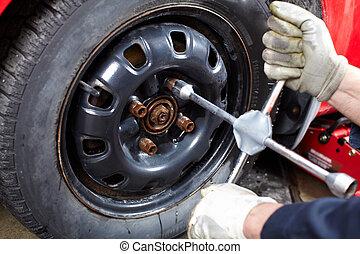 automático, tire., mecânico, mudança