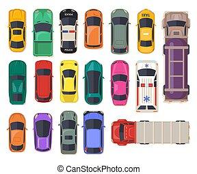automático, topo, transporte, car, vista