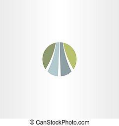 automático, vetorial, estrada, logotipo, rodovia, ícone