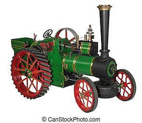 automóvel, motor vapor, modelo