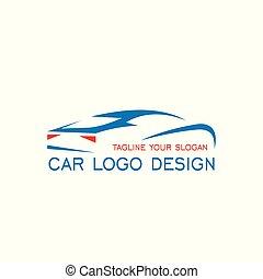 automóvil, coche, logotipo