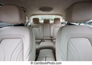 automóvil de lujo, interior