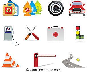 automóvil, iconos
