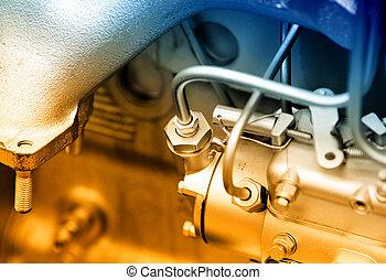 automóvil, motor, detalle