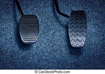 automóvil, pedal