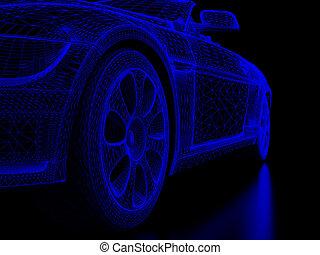 automóvil, rueda