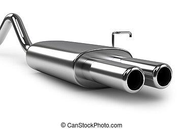 automóvil, tubo de escape