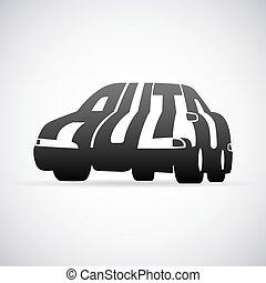 automóvil, vector, logotipo, diseño, plantilla