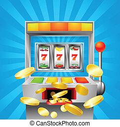 automat, fruechte, gewinnen