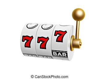 automat, mit, sieben, zeichen