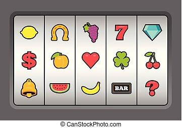 automat, symbole