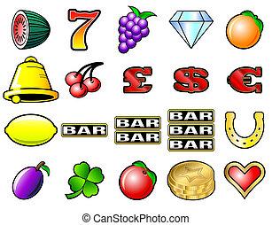 automat, symboler
