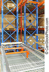 Automated distribution warehouse