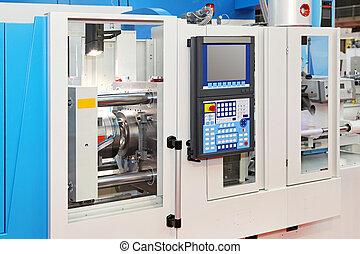 Automated lathe machine