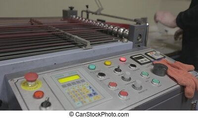 Automated line with system control panel - Automated line...