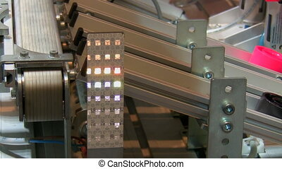 Automated production line - Close up of an automated...